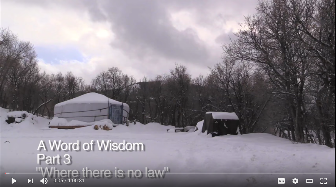 A Word of Wisdom – Part 3 – Where there is no law